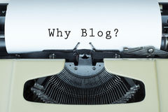 Blog. Concept background with paper and typewriter Royalty Free Stock Photography