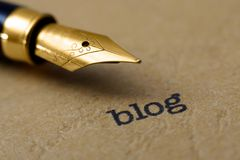 Blog concept. Close up of Blog concept Royalty Free Stock Photos