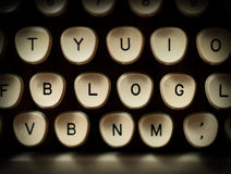 Blog concept. Close up of typewriter Stock Images