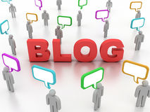 Blog Concept. 3D image of blog concept on white background Royalty Free Stock Images