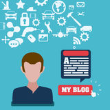 Blog concept Royalty Free Stock Image