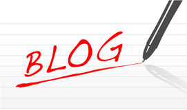 Blog concept illustration Royalty Free Stock Photos