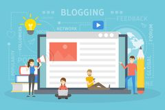Blog concept illustration stock illustration