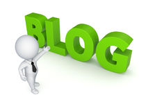 BLOG concept. On white background.3d rendered Royalty Free Stock Photos