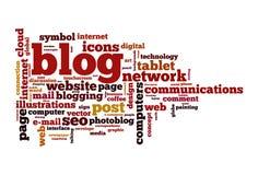 Blog concept word cloud. Image Royalty Free Stock Photos