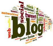 Blog concept in word tag cloud Stock Images