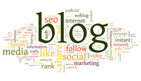 Blog concept in word tag cloud Royalty Free Stock Photo
