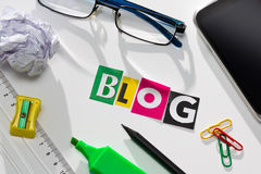 Blog concepts. Stock Photo