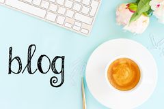 Blog concepts ideas royalty free stock image