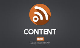 Blog Content Social Media Networking Connection Communication Co Royalty Free Stock Photo