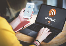 Blog Content Social Media Networking Connection Communication Co Royalty Free Stock Image