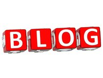 Blog Cube text Stock Photography
