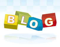Blog cubes Royalty Free Stock Photo