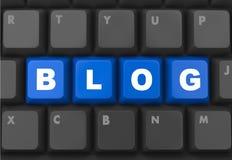 Blog. 3d blue keyboard button - blog concept Royalty Free Stock Photos