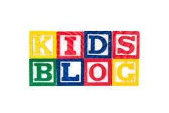 Blog d'enfants - blocs de bébé d'alphabet sur le blanc Photos stock