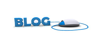 Blog d'Internet Photo libre de droits