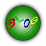 Blog dans le monde Images stock