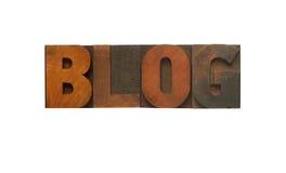 Blog dans le type en bois Photographie stock libre de droits