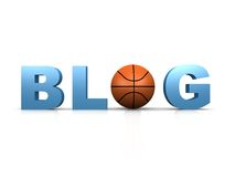 Blog de basket-ball Image stock