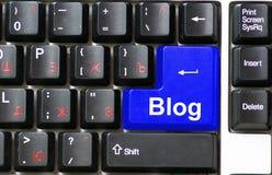 Blog de clavier Photographie stock