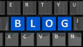Blog de clavier d'ordinateur Photo libre de droits
