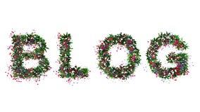 Blog de la flor Imagenes de archivo