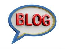 blog de la parole de la bulle 3d Photographie stock libre de droits