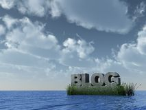 Blog de piedra Imagen de archivo libre de regalías