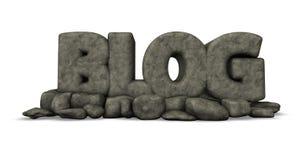 Blog de piedra Foto de archivo libre de regalías