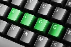 Blog de Word écrit avec des boutons de clavier Photos libres de droits