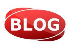 Blog del bottone rosso royalty illustrazione gratis