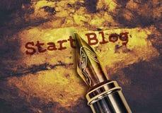 Blog del comienzo del texto imagenes de archivo