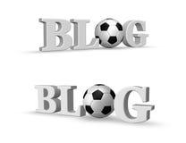 Blog del fútbol Fotografía de archivo libre de regalías