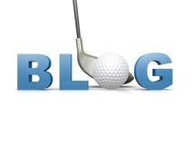 Blog del golf ilustración del vector