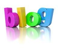 blog del testo dell'arcobaleno 3d Immagini Stock
