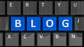 Blog della tastiera di computer Fotografia Stock Libera da Diritti