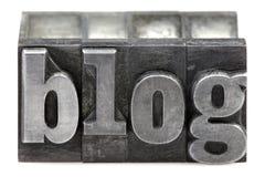 Blog dello scritto tipografico Immagine Stock