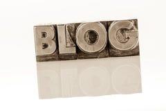 Blog in den Führungsbuchstaben Lizenzfreies Stockfoto
