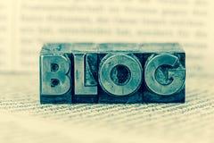 Blog in den Führungsbuchstaben Stockfotografie