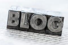 Blog in den Führungsbuchstaben Stockfotos