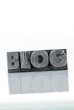 Blog in den Führungsbuchstaben Stockbild