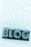 Blog in den Führungsbuchstaben Lizenzfreie Stockfotos