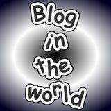 Blog in der Welt Stockfotos