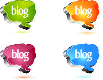 Blog design elements Royalty Free Stock Photography