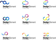 Blog design elements Stock Photography