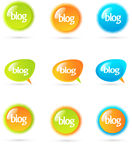 Blog design elements Royalty Free Stock Photos