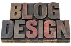 Blog design in wood type Stock Images