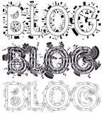 Blog designs vector illustration