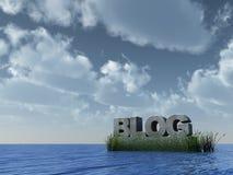 Blog di pietra Immagine Stock Libera da Diritti