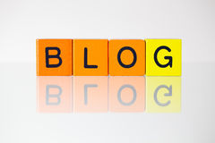 Blog - eine Aufschrift von den Blöcken der Kinder Lizenzfreie Stockfotos